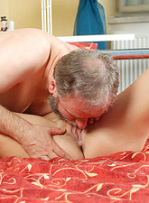 Lucie Haluzikova  Horny blonde Anilos milf gives a skilled blowjob and gets banged by a lucky old man