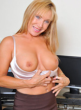 Luna Azul  Fantasize about Anilos Luna a hot blonde secretary who loves to get naughty in the office