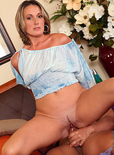 Misty Law  Blonde soccer mom gets her pussy rammed really hard at Anilos