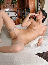 Nikki Daniels  Fabulous Anilos babe stuffs her fingers deep in her wet pussy
