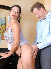 Persia Monir  Busty Anilos Persia Monir enjoys swallowing a stiff cock before she gets fucked by her stud