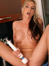 Sindy Lange  Horny Anilos Sindy Lange fucks her mature pussy in the kitchen
