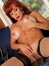 Vanessa Bella  Naughty housewife shows off her big tits and tasty pussy in the kitchen