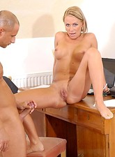 Vivian  Anilos blonde Vivien receives a powerful reaming by a thick cock in her puckered tight milf asshole