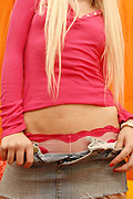 Ashley - Small tits cute blonde teen Ashley sucking and fucking doggystyle