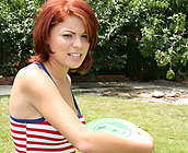 Paige Love - Hot Red head teen Paige does cowgirl and doggy