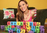 Taryn Kemp - Cute adorable teen plays with her blocks and cocks!
