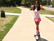 Kim Capri - Sweet little Kim gets fucked hard in her skates!