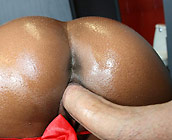 Rane - Busty ebony Rane shows off her big round ass
