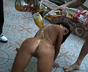 Britney Stevens - Curvy latina Britney gets a 40 poured on her ass