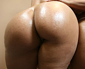 Lacey & Kaylina - Hot bitches with big round asses get rock hard Xmas gift from black stud