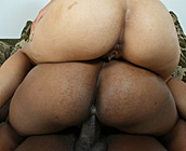 Stacey & Vanessa - Wall to wall juicy black ass getting cock rammed