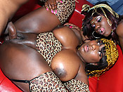 Phylisha & Luxury - Black whores getting the monster bubble asses fucked hard