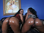 Ebony and Laylan wide open - Ebony and Laylan wide open