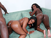 Janae & Samone - Delicious black hoes with massive butts get some proper fucking