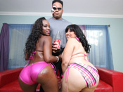 Mz.Twilight & Toni - Mz.Twilight & Toni suck and fuck big black dick with their fat booties!