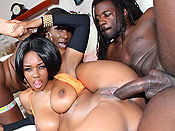 Baby and Kelly - Two nasty black hoes with massive phat asses getting the cock treatment