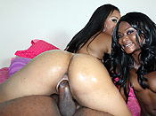 Myesha and Baby - Thick sluts with sexy curves love hard fucking