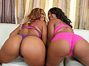 Cocoa and Kendra - Ghetto sluts with bubble butts getting punished with cock