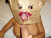 Creepy bag face girl - Creepy bag face girl