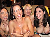 Housewives Have More Fun - With their husbands out of town these housewives are Desperate - FOR COCK! They show it by hiring a stripper then ruthlessly fucking him!