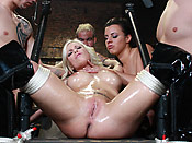 Britney Amber - Blonde slut leaking cum from all fuck holes