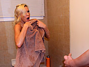 Kacey Jordan - Slutty cunt surprised with a massive facial and loving every drop