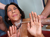 Kayla Carrera - Delicious babe gets surprised with a massive load of cum!
