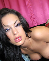 Angelina Valentine - Hot latina Angelina shows off her deepthroat