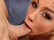 Tara Lynn Foxx - Hot blonde bitch shows off how much cock she can swallow