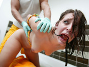 Gracie Glam - Sexy 18 year old gets brutally disgraced and fucked!