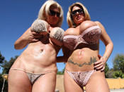 Summer & Kayla - Double team of sluts with gigantic luscious tits!