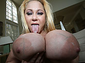 Samantha 38G - Delicious slut with the biggest tits ever getting fucked hard