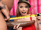 Anna Stevens - Black dude with a 14 inch dong gets an army recruiter chick to fuck.