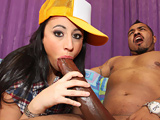 Pyrah Lee - Busty brunette gets FUCKED by OG´s BIG BLACK COCK