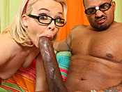 Emma Heart - Sexy slut from library gets violated by 14 inches of black anger cock!