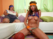 Isis Taylor - Isis plays ball with Ron Jeremy in the bedroom.