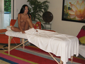 Amia Miley  - Masseuse creeps his hands all over bitch´s body during massage!