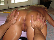 Riley Evans - Horny girl getting a happy ending on the massage table