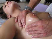 Gracie Glam  - Shy girl gets convinced to fuck during masssage!
