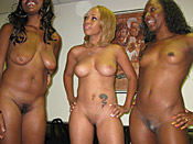 Ms. Platinum - Orgy of black pussy wants hard cock