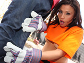 Cheyenne Cooper - Teenie slut gets fucked in her rainbow socks while dirty whore get´s impaled by6 big black dick.