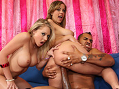 Sunset Diamond - Girl gets surprise blast of jizz to the face and two white sluts wrestle 14 inch black meat