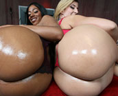 Sara Jay & Ms. Juicy - Big Booty Hoes bouncing on black fat dicks!!!