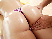Brooke Adams - Hot gal gets oiled up, rubbed down and fucked!