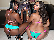 Royalty & Nikki - Cheap sluts with huge phat asses sharing a big cock!
