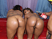 Heaven and Sydne - Delicious black hoes with massive butts playing with a brother