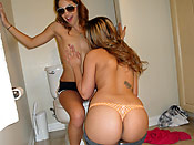 Rosalie and Gigi - Teen BFFs sharing a big cock