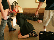 Holly Sampson - Mom gets bound while showing a house!