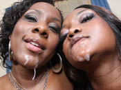 Nina & Ms. Platinum - Two giant-assed sluts go crazy on that cock!